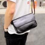 พร้อมส่ง ขายส่ง กระเป๋าผู้ชาย สะพายข้าง Messenger bag สะพายเที่ยว ใส่ipad 10 นิ้ว แฟชั่นเกาหลี รหัส Man-5209 สีดำ