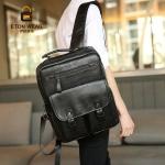 พร้อมส่งกระเป๋าเป้สะพายหลัง ใส่คอมพิวเตอร์ เป้นักเรียน แฟขั่นเกาหลี รหัส Man-9044 สีดำ