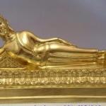 พระประจำวันเกิด อังคาร ปางไสยาสน์ หน้าตัก 5 นิ้ว เนื้อทองเหลือง ปิดทองแท้