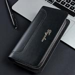 พร้อมส่ง กระเป๋าสตางค์+คลัทซ์นักธุรกิจผู้ชาย ใบยาว ซิปคู่ แฟชั่นเกาหลี ยี่ห้อ baellerry รหัส BA-HF638 สีดำ