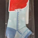 ถุงเท้ากีฬาข้อสั้นสีฟ้า