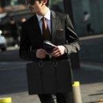 พร้อมส่ง กระเป๋าผู้ชายแฟขั่นเกาหลี กระเป๋านักธุรกิจ รหัส Man-7807 สีดำ