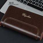 พร้อมส่ง กระเป๋าสตางค์+คลัทซ์นักธุรกิจผู้ชาย ใบยาว ซิปคู่ แฟชั่นเกาหลี ยี่ห้อ baellerry รหัส BA-HF638 สีน้ำตาล 2 ใบ