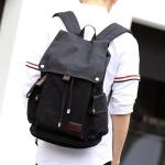 ขายส่ง กระเป๋าเป้ผ้าสะพายหลัง เป้นักเรียน เป้เดินทาง เป้เดินป่า ใส่notebook 14 นิ้ว รหัส Man-229 สีดำ
