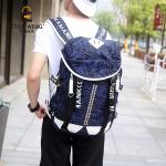 พร้อมส่ง กระเป๋าเป้สะพายหลังผู้ชาย ใส่คอมพิวเตอร์ 15 นิ้ว ใส่หนังสือแฟขั่นเกาหลี รหัส Man-10057 สีน้ำเงิน