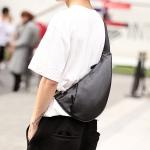 พร้อมส่ง ขายส่งกระเป๋าผู้ชายคาดอก สะพายลำลองสบายๆ แฟขั่นเกาหลี รหัสMan-6310 สีดำ