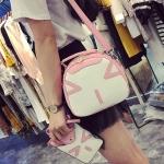 พร้อมส่ง ขายส่งกระเป๋าถือและสะพายข้างผู้หญิง เช็ต 2 ใบ น่ารัก แฟชั่นเกาหลี Fashion bag รหัส DU-803 สีชมพู
