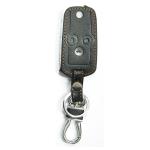 WASABI ซองกุญแจหนัง 3D รุ่น HONDA ACCORD2009-2012,CIVIC FB (สีดำ)