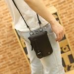 พร้อมส่ง กระเป๋าผู้ชายแฟขั่นเกาหลี ใบเล็ก ใส่โทรศัพท์ iphone รหัส Man-734 สีดำ