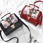 กระเป๋าแฟชั่นนำเข้า CHIC BAG รุ่น BigBen flower รหัสสินค้า C-123 มี 2 สี ดำ, แดง