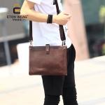 พร้อมส่ง กระเป๋าสะพายข้าง Messenger ผู้ชายแฟขั่นเกาหลี รหัส Man-8112 สีน้ำตาล