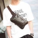 พร้อมส่งกระเป๋าผู้ชายคาดไหล่แฟขั่นเกาหลี รหัส Man-8076 สีน้ำตาล