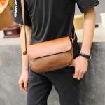 พร้อมส่ง ขายส่ง กระเป๋าผู้ชาย สะพายข้าง Messenger bag สะพายเที่ยว ใส่ipad 10 นิ้ว แฟชั่นเกาหลี รหัส Man-5209 สีน้ำตาล