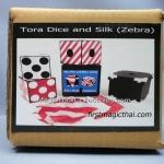Tora Dice and Silk (zebra)