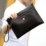 พร้อมส่ง ขายส่ง กระเป๋าคลัทซ์และสะพายข้างผู้ชาย ใส่ tab ipad 10 นิ้ว แฟชั่นเกาหลี Man-8711 สีดำ 1 ใบ