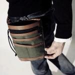 พร้อมส่ง กระเป๋าผู้ชาย ผ้าอเนกประสงค์ขนาดเล็ก คล้องเอว แฟชั่นเกาหลี รหัส G-1497 สีเขียวทหาร