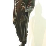 พระพุทธรูป ปางลีลา สูง80ซม. ทองเหลือง รมดำ (พุทธมณฑล)