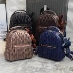 กระเป๋าเป้แบรนด์ KEEP หนังแกะแท้ รุ่น Paris backpack มี 4 สี ดำ, น้ำเงิน, น้ำตาลช็อคโกแล็ต, rose gold