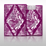 Purple Floral Playing Cards by Aloys Studio
