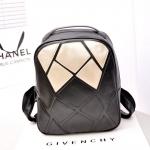 พร้อมส่ง กระเป๋าเป้สะพายหลัง แฟชั่นเกาหลี Fashion bag รหัส NA-228-1 สีดำ-ทอง 1 ใบ