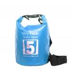 กระเป๋ากันน้ำ Dry pack 5L-สีฟ้า