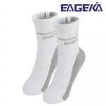 ถุงเท้าข้อยาวสีขาวลายเทา