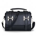 พร้อมส่ง กระเป๋าสะพายไหล่และกระเป๋าถือ เรียบง่ายมีคาด2ด้าน แฟชั่นเกาหลี Sunny-927 สีดำ