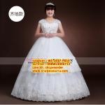 ชุดแต่งงานคนอ้วน แขนกุดประดับเอว WL-2017-P019 Pre-Order (เกรด Premium)