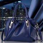 กระเป๋าแฟชั่นนำเข้า ดีไซน์สวยหรู รหัสสินค้า D-122 มี 4 สี ดำ, กรม, น้ำตาล, ขาวครีม