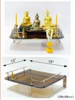 หิ้งพระติดผนังสไตล์โมเดิร์น รุ่นเปลวเทียนสีทอง สวยโดดเด่น ไม่เหมือนใคร