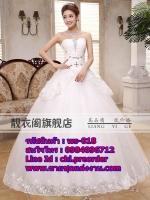 ชุดแต่งงานราคาถูก เกาะอก ws-018 pre-order