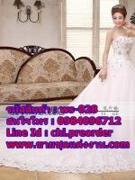 ชุดแต่งงานราคาถูก เกาะอก ws-028 pre-order
