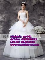 ชุดแต่งงานราคาถูก เกาะอก ws-041 pre-order