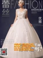 ชุดแต่งงานราคาถูก กระโปรงเภาวัลย์ดอกไม้ ws-2017-047 pre-order