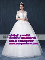 ชุดแต่งงานราคาถูก กระโปรงสุ่ม เปิดคอ เปิดหลัง ws-036 pre-order