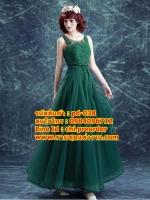 ชุดแต่งงาน [ ชุดพรีเวดดิ้ง ] PD-038 กระโปรงยาว สีเขียว (Pre-Order)