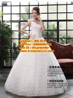 ชุดแต่งงานราคาถูก ผาดไหล่เดี่ยวด้านขวา ws-073 pre-order