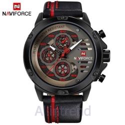 นาฬิกา Naviforce รุ่น NF9110M สีแดงดำ สายสีดำขีดแดง ของแท้ รับประกันศูนย์ 1 ปี ส่งพร้อมกล่อง และใบรับประกันศูนย์ ราคาถูกที่สุด