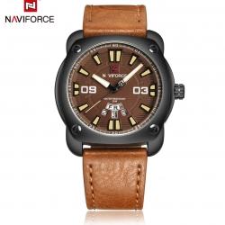 นาฬิกา Naviforce รุ่น NF9096M สีน้ำตาล ของแท้ รับประกันศูนย์ 1 ปี ส่งพร้อมกล่อง และใบรับประกันศูนย์ ราคาถูกที่สุด