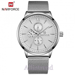 นาฬิกา Naviforce รุ่น NF3003M สีเงิน ของแท้ รับประกันศูนย์ 1 ปี ส่งพร้อมกล่อง และใบรับประกันศูนย์ ราคาถูกที่สุด