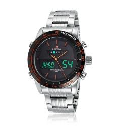 นาฬิกา Naviforce รุ่น NF9024M สีส้ม/เงิน ของแท้ รับประกันศูนย์ 1 ปี ส่งพร้อมกล่อง และใบรับประกันศูนย์ ราคาถูกที่สุด