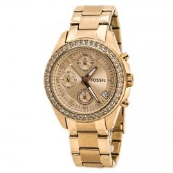 นาฬิกา Fossil รุ่น ES3352 Decker Chronograph Stainless Steel Watch-Rose Gold นาฬิกาข้อมือผู้หญิง ของแท้ รับประกันศูนย์ 2 ปี ส่งพร้อมกล่อง และใบรับประกัน