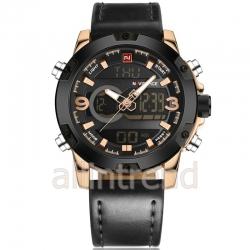 นาฬิกา Naviforce รุ่น NF9097M สีทองชมพู/ดำ ของแท้ รับประกันศูนย์ 1 ปี ส่งพร้อมกล่อง และใบรับประกันศูนย์ ราคาถูกที่สุด