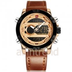 นาฬิกา Naviforce รุ่น NF9097M สีทองชมพู/น้ำตาล ของแท้ รับประกันศูนย์ 1 ปี ส่งพร้อมกล่อง และใบรับประกันศูนย์ ราคาถูกที่สุด