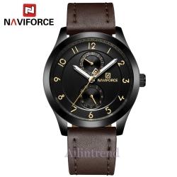 นาฬิกา Naviforce รุ่น NF3004M สีดำ/น้ำตาล ของแท้ รับประกันศูนย์ 1 ปี ส่งพร้อมกล่อง และใบรับประกันศูนย์ ราคาถูกที่สุด