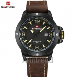 นาฬิกา Naviforce รุ่น NF9077M สีน้ำตาล ของแท้ รับประกันศูนย์ 1 ปี ส่งพร้อมกล่อง และใบรับประกันศูนย์ ราคาถูกที่สุด
