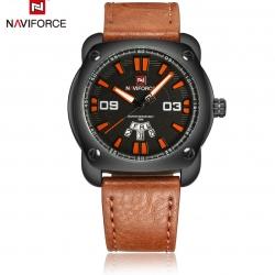 นาฬิกา Naviforce รุ่น NF9096M สีส้ม/น้ำตาล ของแท้ รับประกันศูนย์ 1 ปี ส่งพร้อมกล่อง และใบรับประกันศูนย์ ราคาถูกที่สุด