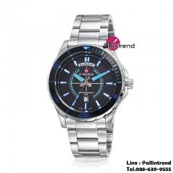 นาฬิกา Naviforce รุ่น NF9053M สีฟ้า/เงิน ของแท้ รับประกันศูนย์ 1 ปี ส่งพร้อมกล่อง และใบรับประกันศูนย์ ราคาถูกที่สุด