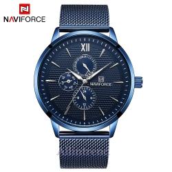 นาฬิกา Naviforce รุ่น NF3003M สีน้ำเงิน ของแท้ รับประกันศูนย์ 1 ปี ส่งพร้อมกล่อง และใบรับประกันศูนย์ ราคาถูกที่สุด