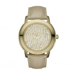 นาฬิกา DKNY รุ่น NY8435 นาฬิกาข้อมือสุภาพสตรี สายหนังสีทอง